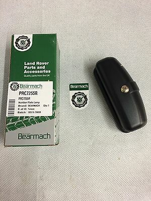 Bearmach Land Rover Defender Rear Number Plate Light Lamp PRC 7255