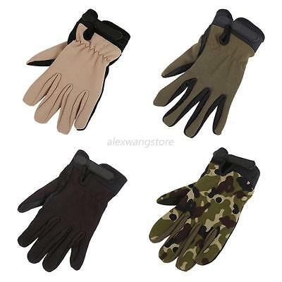 Outdoor Men Women Unisex Climbing Military Training Full Finger Sports Gloves