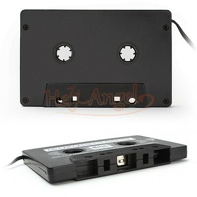 Black Car Cassette Tape Adapter Converter 3.5MM For Iphone Ipod MP3 AUX CD DVD
