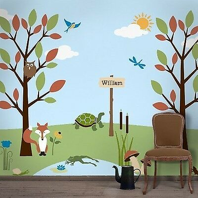 My Wonderful Walls Forest Theme Wall Stencil Kit for Girls Room