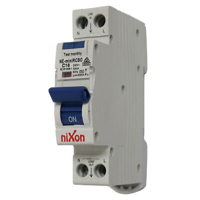 16AMP - RCBO Single Module 6kA - Single Safety Switch for Switchboard