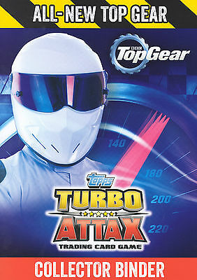 2016 TOPPS TOP GEAR TURBO ATTAX FULL / COMPLETE BASE SET OF 192 CARDS in BINDER