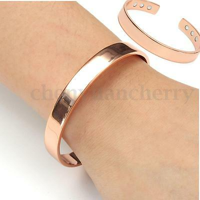 Copper Magnet Phsycial Therapy Bangle Bracelet Pain Relief Rheumatic Arthritis