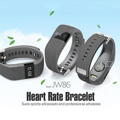 Bluetooth Smart Heart Rate Monitor Pedometer Bracelet Phone JW86 for Android IOS