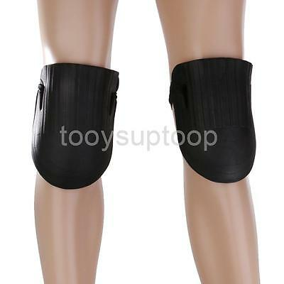 Outdoor Gardening Work Protection Black Foam Knee Pads with Elastic Strap