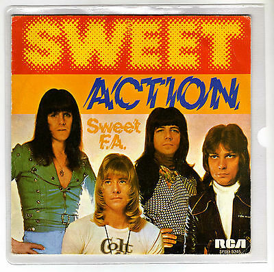 """THE SWEET  7 """" Only  Spanish Maxi ACTION 2 tracks black label 1976 /16"""