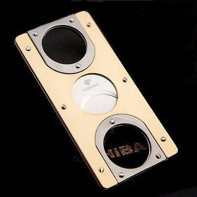 COHIBA Pocket Double Blades Stainless Steel Cigar Cutter/Scissors/Guillotine