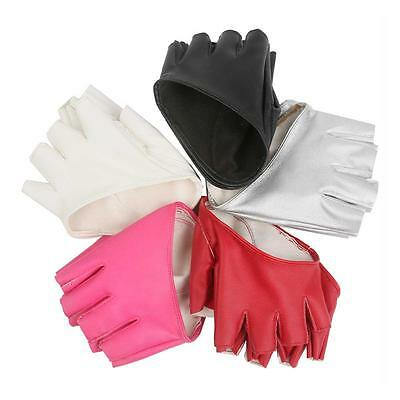 Mighty Grip Pole Dance Fitness Gloves Womens 1 Pair Half Finger Pu Gloves