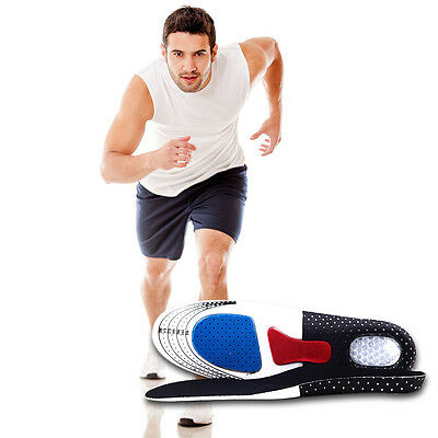 Unisex Gel Orthotic Sport Running Insoles Insert Shoe Pad Arch Support Cushion E