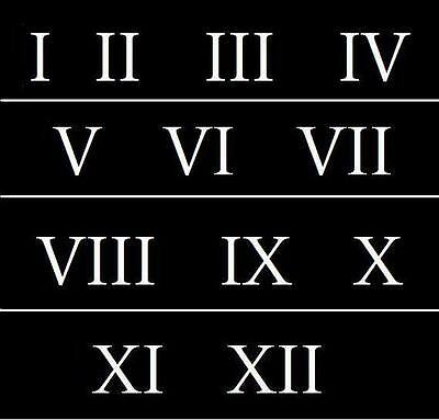Roman Numeral Stencils 4 inch Numbers 1-12 Address Clock Signs Vintage School