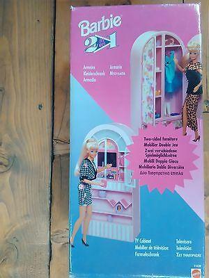 Barbie - Armadio E Tv 2 In 1 - Tv Cabinet And Armoire  - Mattel - 1995