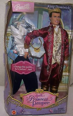 Barbie Princess & The Pauper King Dominick & Outfit New