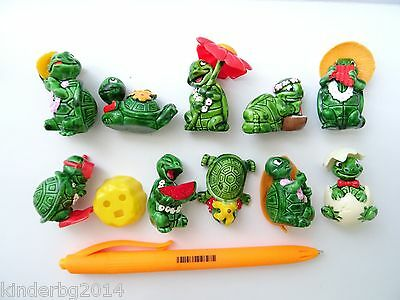 Complete collectible 10 figures toys set TURTLES TEENY TAPSI Kinder Surprise 93