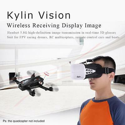 KDS Kylin Vision 64CH 5.8G 3D FPV RC Drone Goggles VR Headset with Battery K2Z1