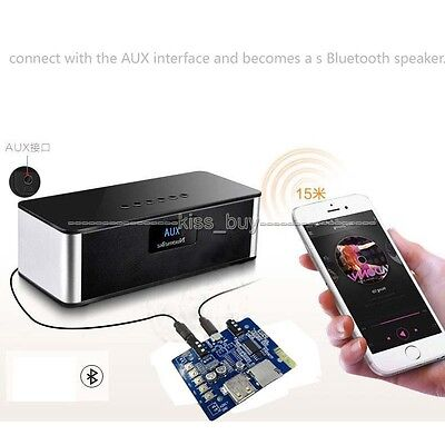 Bluetooth receiver MP3 / WMA / WAV audio decoder board USB TF Player AUX Speaker