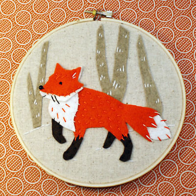 Whimsy Fox Stitchery Kit
