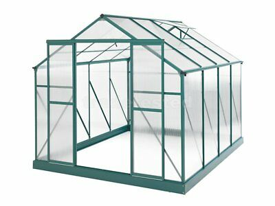 Evergreen Greenhouse 10 x 8ft Green Green Houses Polycarbonate NEW