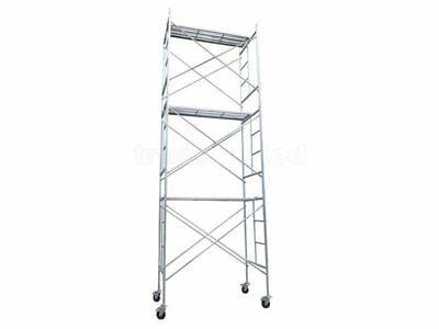 Scaffolding Tower 5.25m Mobile Rolling Steel NEW