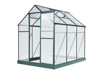 Evergreen Greenhouse 6 x 8ft Green Small Green Houses Polycarbonate NEW