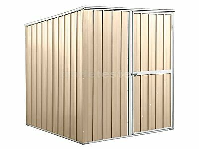 Garden Shed 1.75m x 1.75m x 1.9m Cream Small Storage Sheds Colorbond NEW