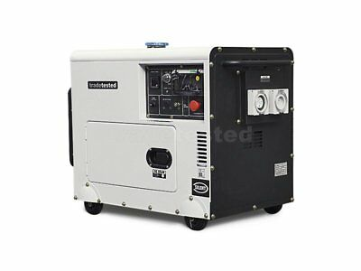 6.0kVA Diesel Silent Generator 3 Phase Enclosed NEW