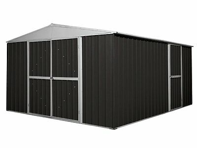 Workshop Shed 3.45m x 4.3m x 2.1m Ironsand Large Storage Sheds Steel NEW