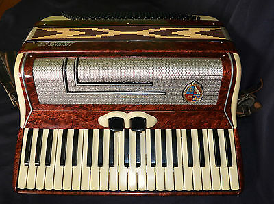 Vintage 120 Bass Piano Accordeon Accordion Busilacchio Made In Italy With Box