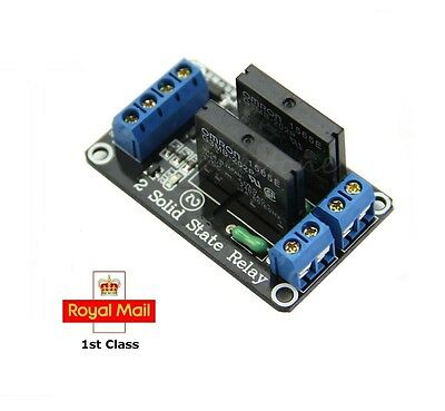 5V 2 Channel Solid State High Level Relay module for Arduino Raspberry Pi