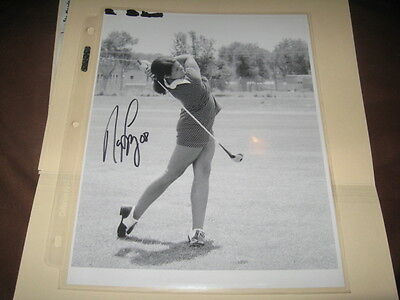 Nancy Lopez Lpga Star Hand Signed 8X10 B&W Photo Vintage (B)