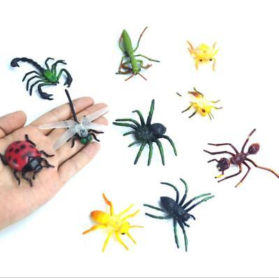 10 Assorted Figure Realistic Bugs Plastic Insects Kids Party Bag Filler Toy