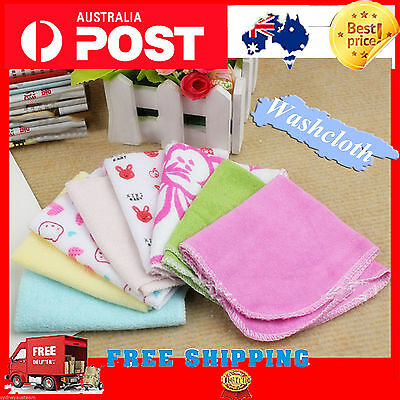 Baby face towel x8 Wash Cloth Face Washers Towels Cotton brand new