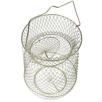 25cm Folding Steel Fishing Cage Fish Lobster Shrimp Creel Fishing Tackle