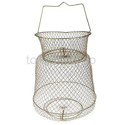 30cm Folding Steel Fishing Cage Fish Lobster Shrimp Creel Fishing Tackle
