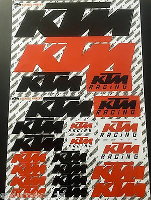 KTM Stickerkit Stickerbogen Aufkleber Motocross Quad Enduro Sticker MX NEU