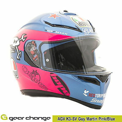 AGV K3 SV Guy Martin Motorcycle Helmet Size MS Our Price £179.99