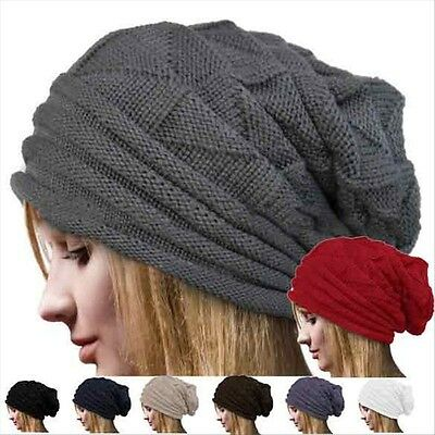 Dreadlock Slouch Winter Beret Baggy Knit Oversized Beanie Hat Ski Cap New