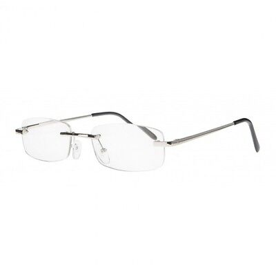 Silver Rimless Reading Glasses