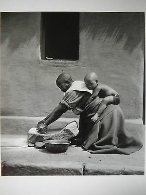 Postcard / Grinding Corn in Southern Africa / Constance Stuart Larrabee / 1947