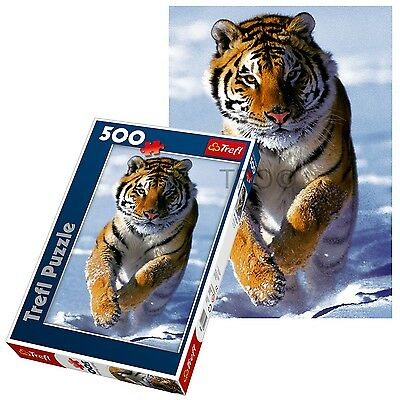 Trefl 500 Piece Adult Large Floor White Snow Tiger Bengal Jigsaw Puzzle NEW