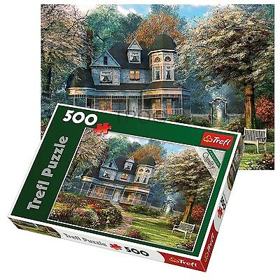 Trefl 500 Piece Adult Large House Of Dreams Landscape Floor Jigsaw Puzzle NEW