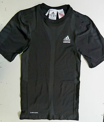 New Boys Adidas Techfit Black Short Sleeved Seamless Compression Top Climacool