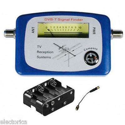 Hd Antenna Signal Meter Finder  Compass Buzzer Ota Hd Tv Uhf Vhf Over The Air