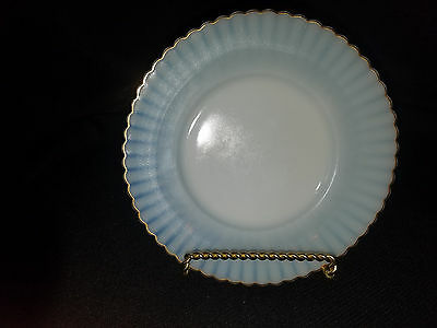 Macbeth Evans Glass Petalware Monax Bread And Butter With Gold Trim