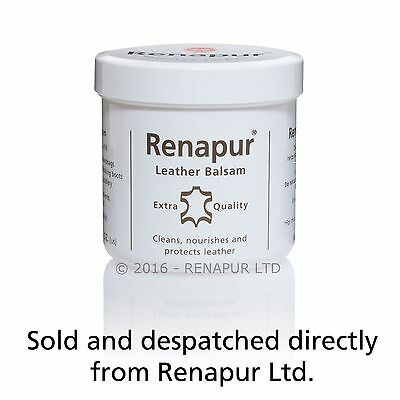 Renapur Leather Balsam, conditioner waterproofer sofas shoes bike leathers car
