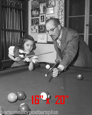 """Groucho Marx~Daughter~Shooting Pool~Playing Pool~Billiards~16""""x20""""~Poster~ Photo"""