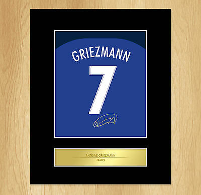 Antoine Griezmann Signed Mounted Artistic Photo Display France Euro 2016