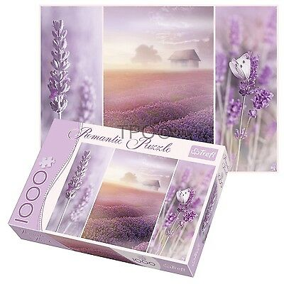Trefl 1000 Piece Romantic Lavender Fields Adult Large Floor Jigsaw Puzzle NEW