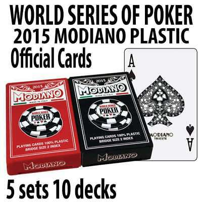 5 SETS World Series of Poker Playing Cards Plastic Acetate Modiano Cards 2015 Br