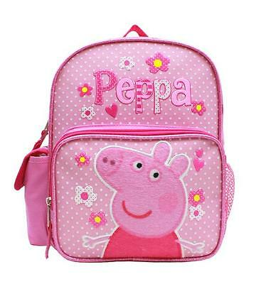 """Peppa Pig 10"""" Mini Backpack Bag Pink Licensed New with Tags Authentic"""