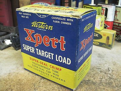 EMPTY WESTERN EXPERT PAPER shot shell box ammo SHOTGUN SHELLS LOAD 12 ga origina
